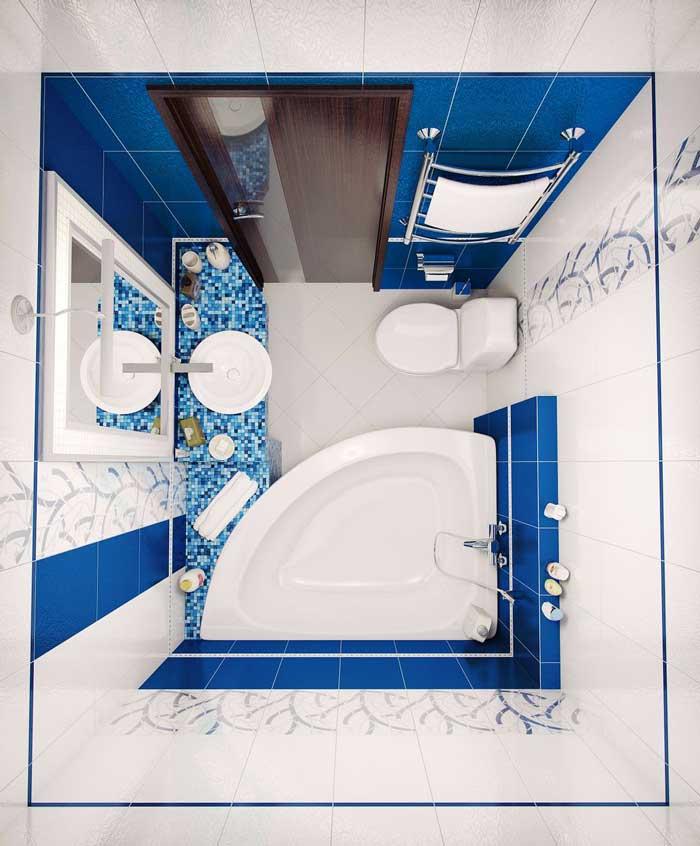 Дизайн однокомнатной хрущевки. Фото ванной комнаты