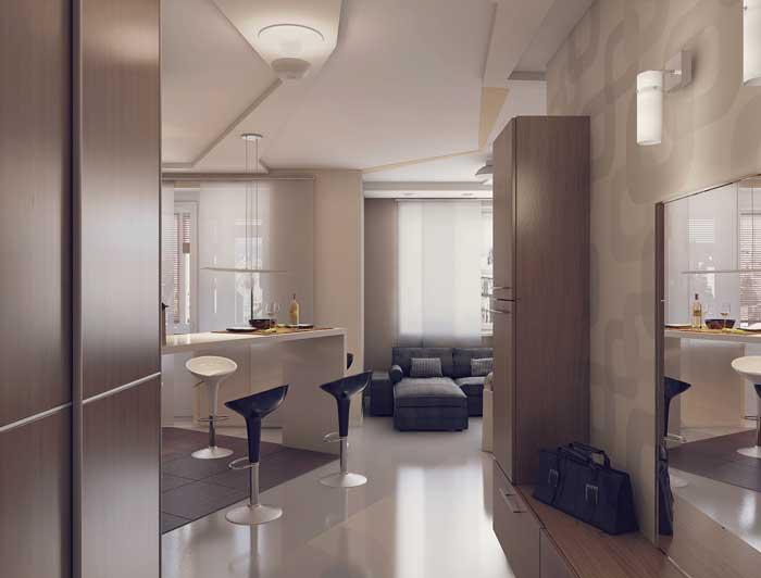 Оформление квартиры студии в стиле минимализм