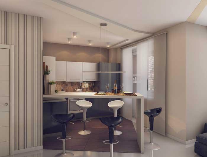 Дизайн проект кухни в квартире студии 8, 9, 10 м2