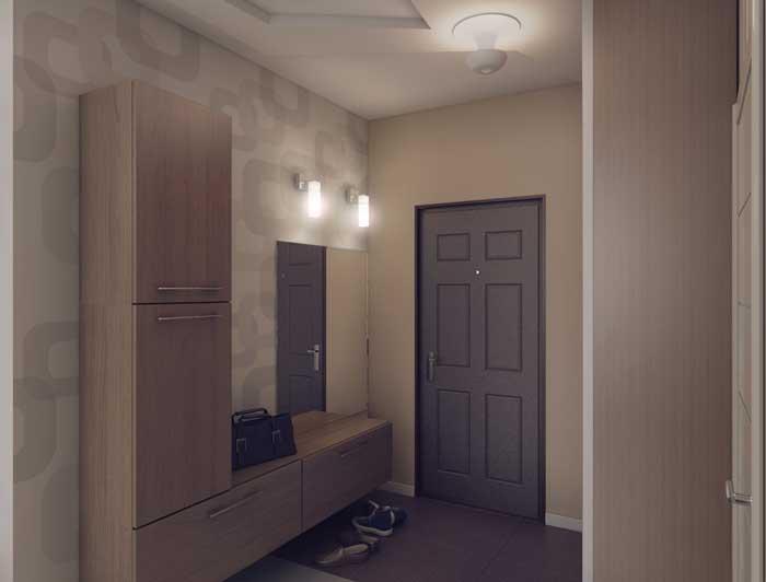 Оформление простого коридора минимализм