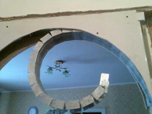 Закрепляем листы гипсокартона для арки своими руками