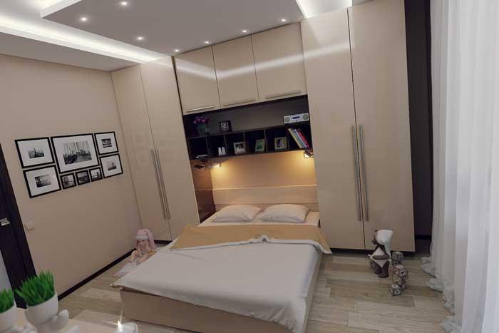 Дизайн спальни для девочки 14, 15 лет в светлых тонах. Фото 6