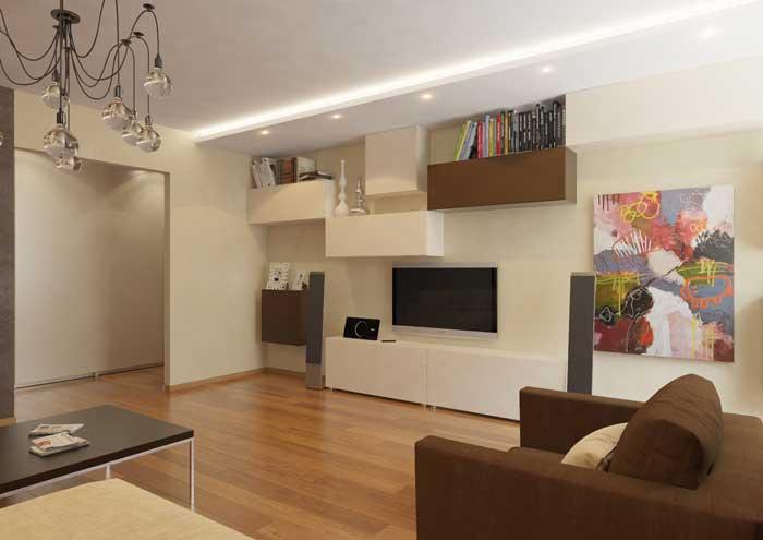 Современный стиль зала. Фото 4