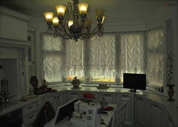 Дизайн кухни с эркером п44т рабочая зона светлая кухня