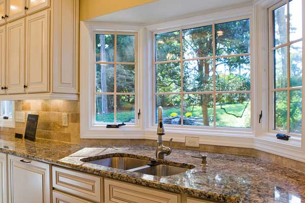 Эркер на кухне п44т планировка раковина у окна