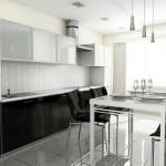 Фото черно белой кухни