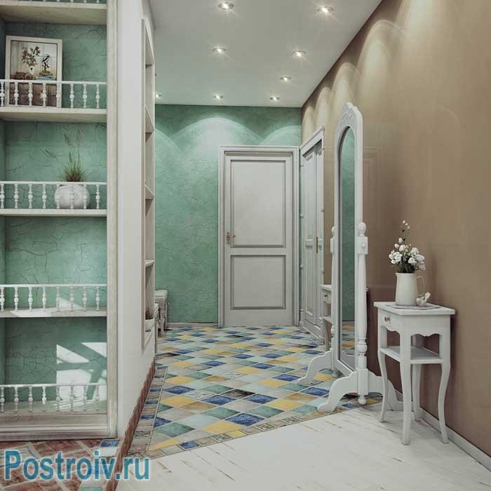 Коридор в стиле прованс в двухкомнатной квартире. Фото