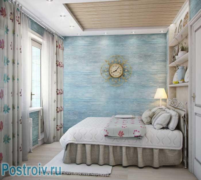 Спальня в стиле прованс в двухкомнатной квартире. Фото