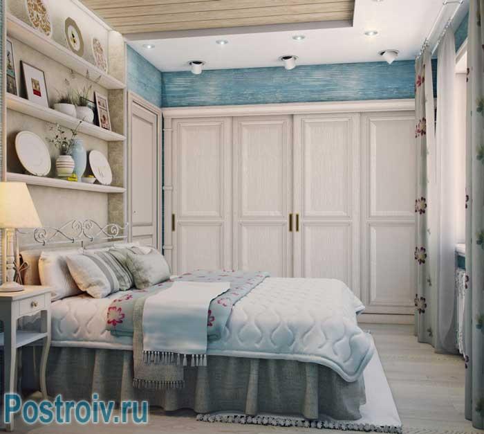 Интерьере спальни в стиле прованс. Фото