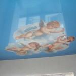 Фотопечать на натяжном потолке дизайн детской спальни