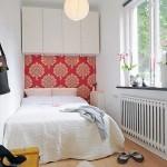 Дизайн спальни оклеенной обоями комбинированными