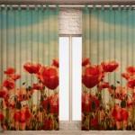 Ультра модные шторы принт для спальни 2014