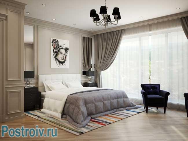 Дизайн штор для спальни от дизайнера