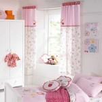 Шторы розового цвета в детскую для маленькой девочки