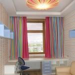 Разноцветные современные шторы для детской комнаты