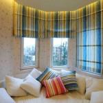 Полосатые строгие римские шторы для детской мальчика