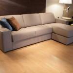 Бежевый стандартный угловой диван для гостиной