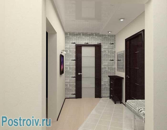 Отделка стен в коридоре. Фото