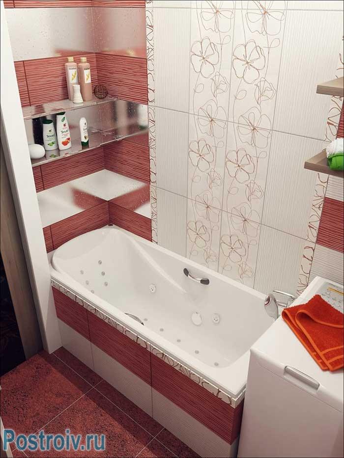 дизайн ванных совмещенных с туалетом приемы для увеличения