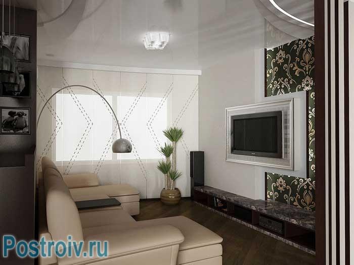 Дизайн гостиной 16, 17, 18 кв. м. Правильная расстановка мебели