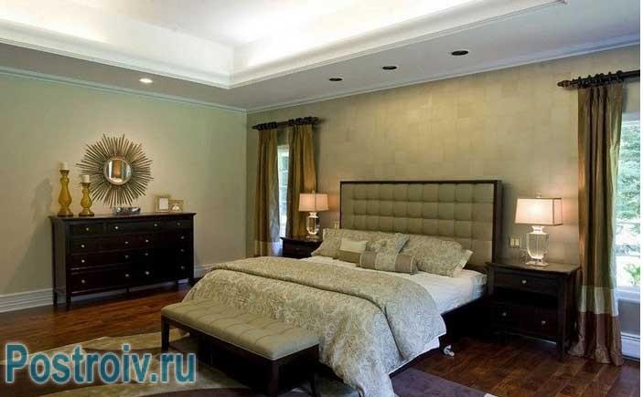 Как расставить мебель в большой спальне 16, 17, 18 кв. м.