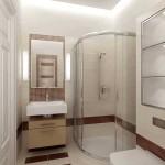 Дизайн душевой кабины открытого типа в ванной