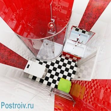 Дизайн ванной с душевой кабиной. Фото