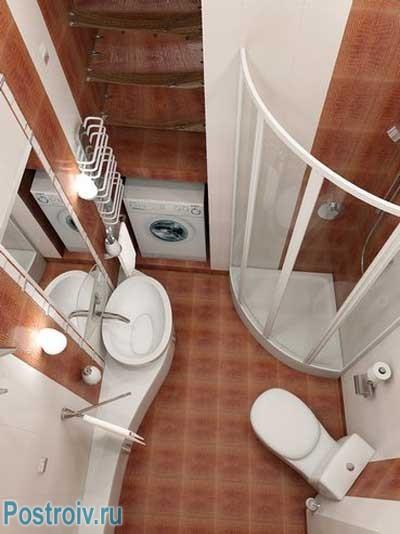 Ванная комната с душевой кабинкой. Фото