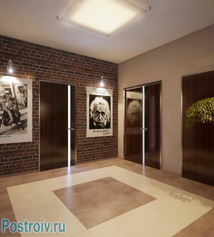 Дизайн проект 2-комнатной квартиры. Прихожая - фото