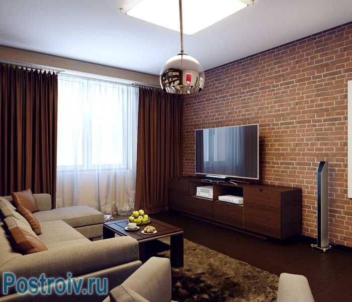 Как оформить дизайн 2-комнатной квартиры. Гостиная
