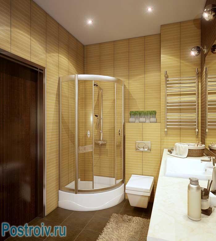 Дизайн 2-комнатной квартиры. Фото ванной комнаты