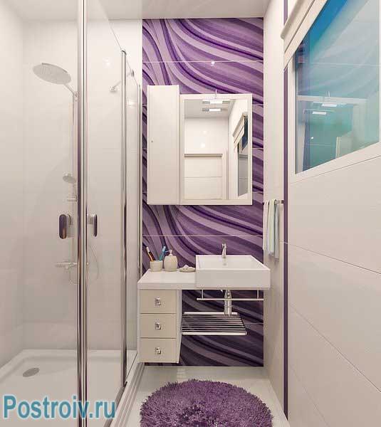 Дизайн ванной с душевой кабиной 3 кв. м.
