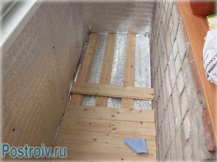Как правильно утеплить пол на балконе - Фото