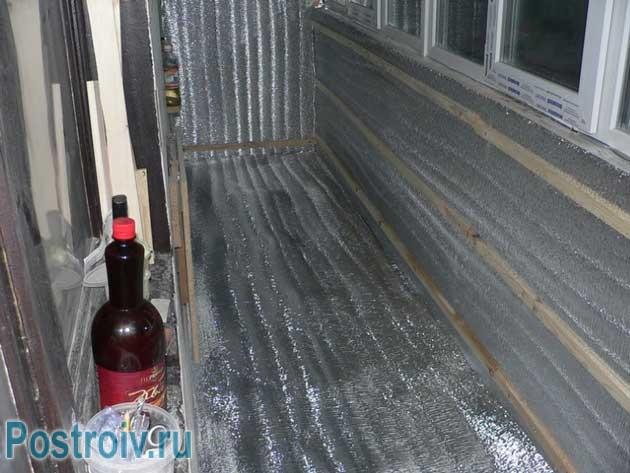 Обрешетка для финишной отделки. Правильное утепление балкона