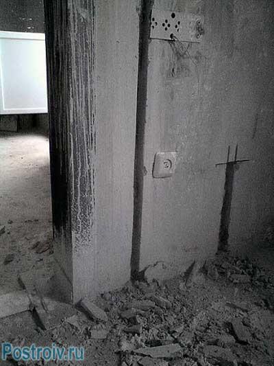 Штробы для новой проводки в квартире