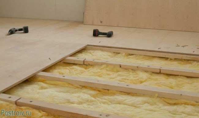 Способ укладки фанерного настила на старый деревянный пол