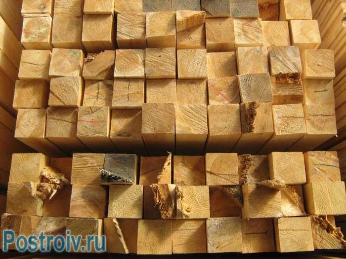 Расчет количества бруса в одном кубе - Фото