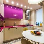 Красивый дизайн светильников на кухне. Фото