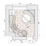 Нестандартная планировка кухни 9 кв. м. Фото