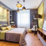 Дизайн спальни 14 кв. м. для активной девушки - Фото