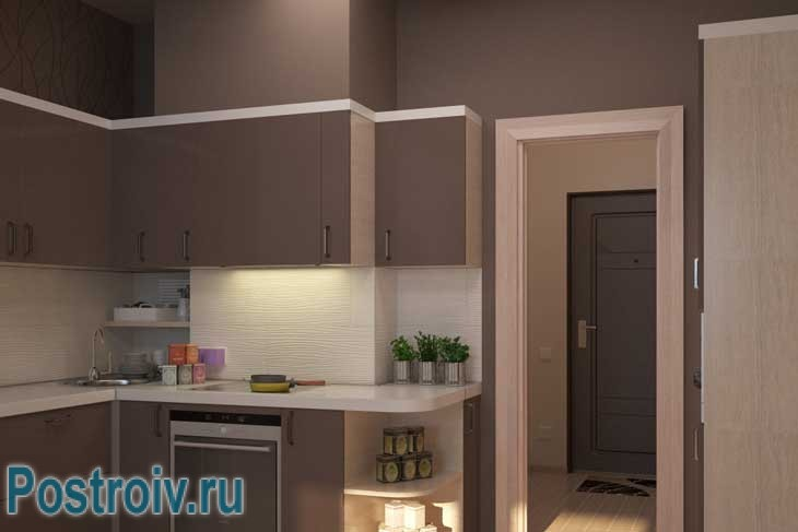 Маленькая угловая кухня с легкостью умещается на небольшой площади - Фото