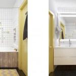Маленькая ванная 5-6 кв. м. совмещенная с туалетом. Подвесной унитаз - Фото