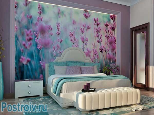 Красивые фотообои в спальне. Фото