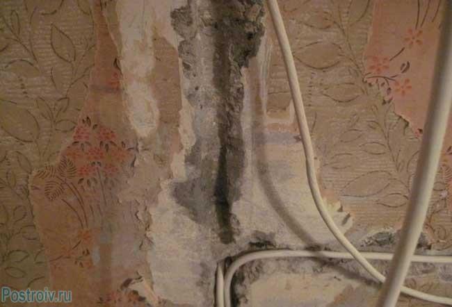 Ручное штробление стен под проводку - Фото