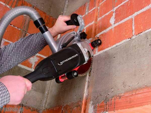 Как правильно штробить стены. Штроборез - Фото
