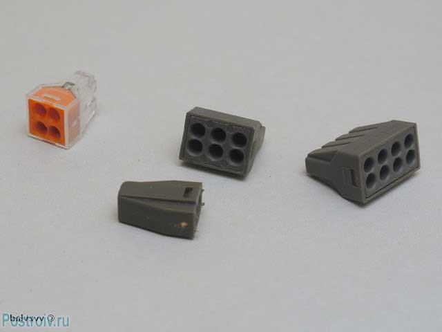 Самозажимные клемники wago для соединения проводов - Фото