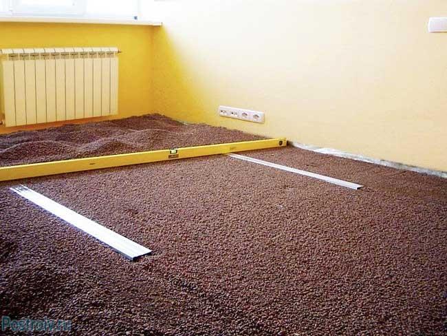 Правильная технология установки маячков для сухой стяжки