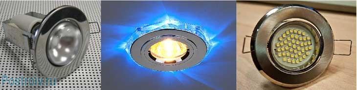 Типы точечных светильников - Фото