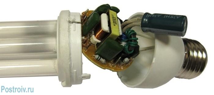 Устройство энергосберегающей лампы - Фото 02