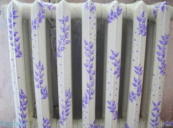 Вариант покраски радиатора отопления